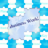 Jigsaw puzzles wording of Business World. — Stock Photo