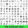 Universal icons: business, finance, travel — Stock Vector
