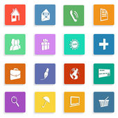 Set of flat icons with shadows — Stock Vector