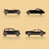 Vintage car on a brown background — Stock Vector