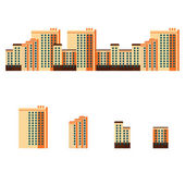 City with high-rise apartment buildings — Stock Vector
