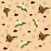 Wzór elementów kawy — Wektor stockowy