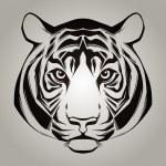 Tiger head. Vector illustration — Stock Vector #38965283