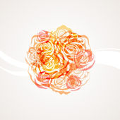 Roses. Romantic floral background — Stock Vector