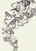 Beautiful butterfly vector background — 图库矢量图片