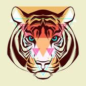 Tiger. Fashion illustration — Stock Vector