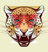 Angry leopard. Fashion illustration — Stock Vector