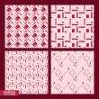 Set of four geometrical patterns - seamless vector — Stock Vector