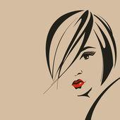 Woman face — Stock Vector