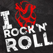 I love rock and roll — Stock Vector