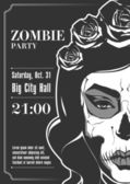 Zombie Party Poster. Vector illustration. — Stock Vector