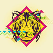 Creative illustration of a lioness — Wektor stockowy