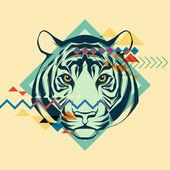 Creative illustration of a tiger — Stockvektor