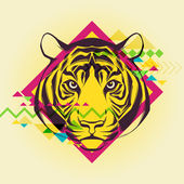Creative illustration of a tiger — Wektor stockowy