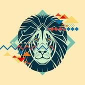Creative illustration of a lion — Stockvektor