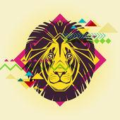 Creative illustration of a lion — Wektor stockowy