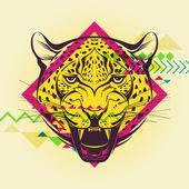 Creative illustration of a leopard — Wektor stockowy