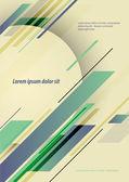 Vector poster design template — Vector de stock