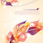 Autumn background. Vector illustration — Stock Vector