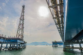 Oil and docking rig — Stock Photo