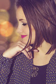 Profile photo of a young woman — Stock Photo