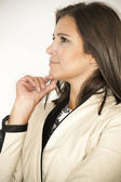 Profile of a business woman thinking — Stock Photo