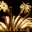 Huge colorful fireworks against the night sky — Stock Photo #39859397
