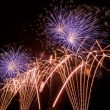 Stock Photo: Firework streaks in night sky