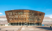 CARDIFF, UK - SEPTEMBER 8, 2010: Cardiff Millennium Centre in Ca — Stock Photo