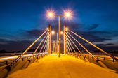 ZAGREB, CROATIA - JULY 12, 2008: Homeland bridge during sunset.  — Stock Photo