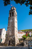 BLATO, CROATIA - AUGUST 9, 2010: Tower of the parish Church of A — Stock Photo