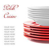 Stos płytek ceramiki kolorowy kolory polski — Zdjęcie stockowe