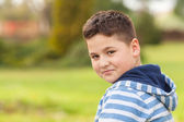 Portrait of a seven years old caucasian boy — Stock Photo