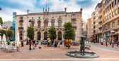 Plaza de Alonso Martinez with Palacio de Capitania General in Burgos, Spain — Stock Photo