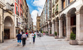 People walking on the street in city center in Burgos, Spain — Stock Photo