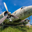 Remains of an abandoned Dakota DC3 aircraft from World War II on — Stock Photo #47287099