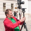 ZAGREB, CROATIA - MAY 2, 2009: Tourist photographer taking pictu — Stock Photo #47287613
