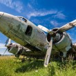 Remains of an abandoned Dakota DC3 aircraft from World War II on — Stock Photo #47291369