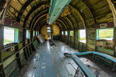 Remains of an abandoned Dakota DC3 aircraft from World War II on — Stock Photo