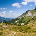 Panorama of summer mountain ridge — Stock Photo #39036077