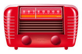 Red vintage radio — Stockfoto