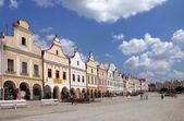 Historiska stadskärnan i telč - stad i tjeckien — Stockfoto