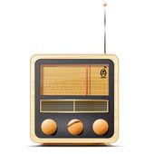 Ilustración vectorial del vintage - retro radio — Vector de stock
