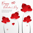 Stock Vector: Valentine's day background with abstract hearts