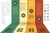Modern design template for infographics — Stock Vector