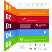 Plantilla de diseño moderno para la infografía — Vector de stock