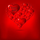 Valentine's day background with abstract hearts — Cтоковый вектор