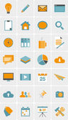Set of web icons in modern flat design — Stock Vector