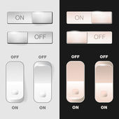 """Set of """"ON-OFF"""" web switches — Stock Vector"""