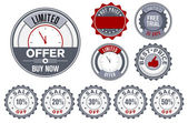 Set of vector stamps - best price, limited offer, sale etc. — Stock Vector